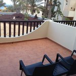 Our balcony, (towell rail on wall)