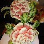 Beautiful melon carvings