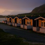 The cabins lightened by the midnight sun