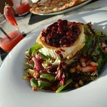 Amazing Grilled Goat's Cheese Salad with red berries