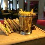 Delicious gluten free club sandwich!