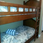 Bunk beds that were located in the long hallway