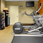 Fitness room. Day passes to Gold's Gym also available