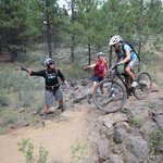 being coached on the trail