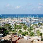 vista dalla camera, porto/spiaggia el arenal
