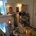 Downstairs area & coffee machine