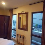 Bedroom with 2 window