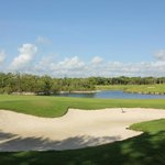 sand trap and water