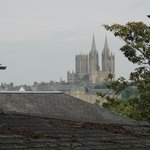 View of Coutances from the backyard