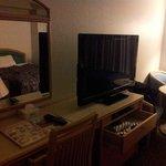 the huge TV
