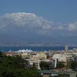 Blick auf Antibes, Cagnes und Nizza