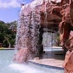 waterfalls outside jacuzzi