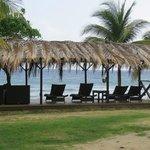 Beachfront tiki hut cabana