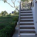 trap naar het dak met terras