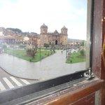 vista da janela do espaderos