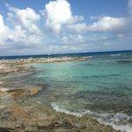 beach/lagoon area