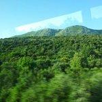 Les montagnes vue du bus