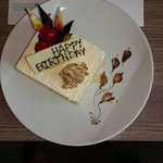 Birthday cake gifted by novotel platinum