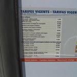 Tourist bus notice