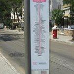 Tourist bus stop