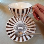 Gorgeous bone china tea cups and saucers (can be bought from the shop below the tea room).
