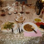 Wine & Lunch Spread