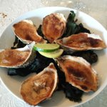 The baked oysters