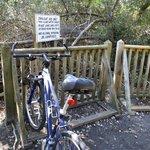 Bike racks at trailhead
