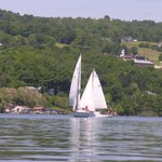 Sail boats on Seneca Lake