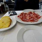 Tortilla et jambon ibérique