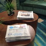 Complimentary daily newspapers in Lobby