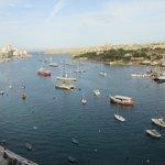 Looking accross the harbour towards Valletta