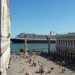 view from top of Basilica with cruise liner !!