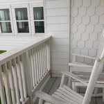 Rocking chairs on balcony