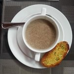 Грибной суп из меню