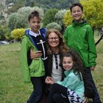 Sylvie with our three children