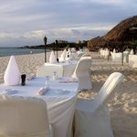 What better way to dine than with your toes in the sand!