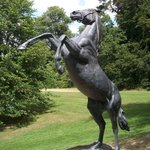 Original scaled-down version of Newmarket statue.