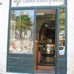 A neighborhood bookstore in Lisbon.