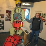 The mannequin shows the amount of gear the smokejumpers have with them.