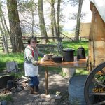 """An authentic chuckwagon - and some """"cowboy coffee"""" that will put hair on your chest!"""