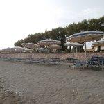 plage côté sable et galets