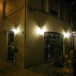 Pizzeria Aguila at Night.