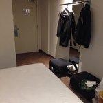 "Room 340: ""lack"" of furniture and no closet"