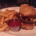 Smoked meat burger