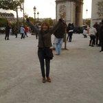 En el Arco de Triunfo!!!