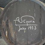 Andre Segovia signed barrel