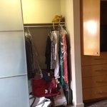 Master bedroom closet & entertainment center