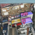 View from our Corner Room -  Times Square
