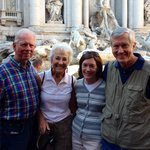 Coughllins/Schmidts at Trevi Fountain